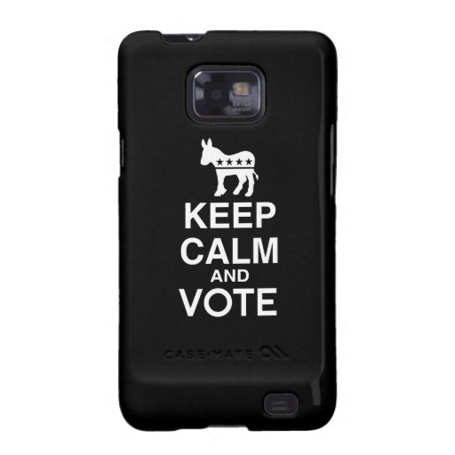 KEEP CALM AND VOTE DEMOCRAT.png Samsung Galaxy S2 Covers