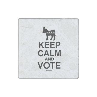KEEP CALM AND VOTE DEMOCRAT STONE MAGNET