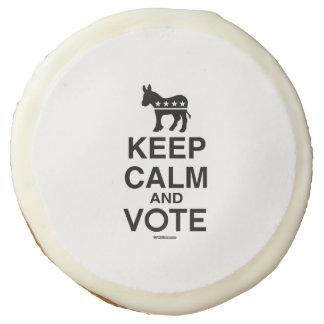 KEEP CALM AND VOTE DEMOCRAT SUGAR COOKIE