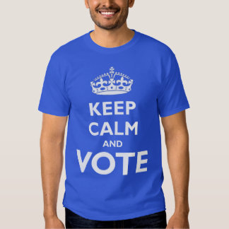 Keep Calm and Vote Election Tee Shirt