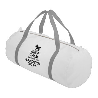 Keep Calm and Vote for Sanders 2016 Gym Duffel Bag