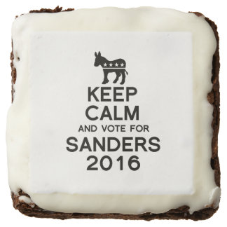 Keep Calm and Vote for Sanders 2016 Square Brownie