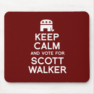 Keep Calm and Vote for Scott Walker - Election 201 Mouse Pads