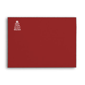 Keep Calm and Vote for Scott Walker Envelope