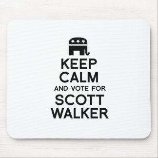 Keep Calm and Vote for Scott Walker Mouse Pad