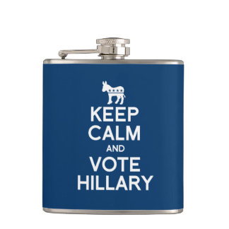 KEEP CALM AND VOTE HILLARY 2016 FLASK