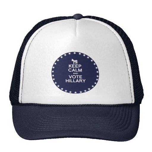 KEEP CALM AND VOTE HILLARY 2016 MESH HAT