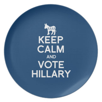 KEEP CALM AND VOTE HILLARY 2016 DINNER PLATES