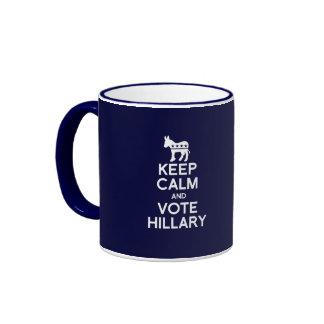 KEEP CALM AND VOTE HILLARY RINGER COFFEE MUG