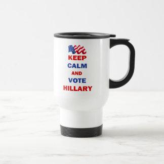 Keep Calm and Vote Hillary Mugs