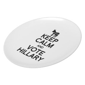 KEEP CALM AND VOTE HILLARY PLATES