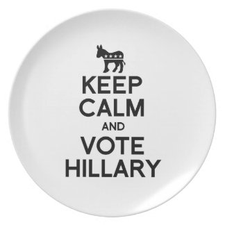KEEP CALM AND VOTE HILLARY png Party Plates