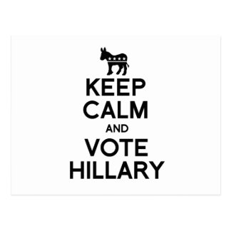 KEEP CALM AND VOTE HILLARY.png Postcard