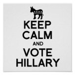 KEEP CALM AND VOTE HILLARY.png Poster