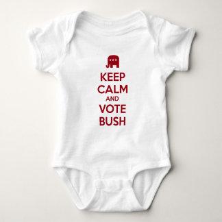 Keep Calm and Vote Jeb Bush Baby Bodysuit