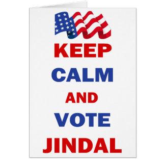 Keep Calm and Vote Jindal Card