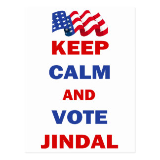 Keep Calm and Vote Jindal Postcard