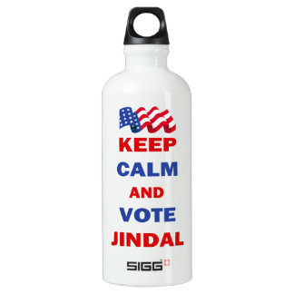 Keep Calm and Vote Jindal Water Bottle