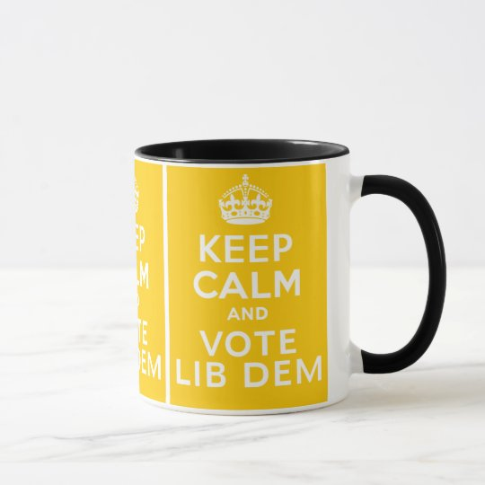 Keep Calm And Vote Lib Dem ~ Political U.K Mug