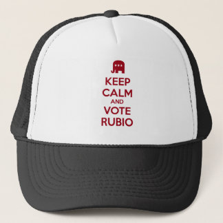 Keep Calm and Vote Marco Rubio Trucker Hat