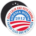 keep Calm And Vote Obama 2 6 Inch Round Button