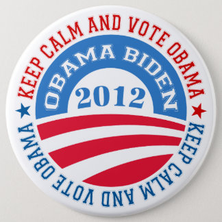keep Calm And Vote Obama 2 Button