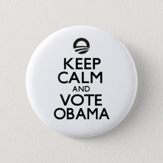Keep Calm and Vote Obama Button