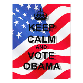 Keep calm and vote Obama Flyer