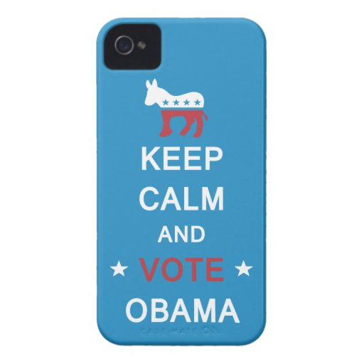 Keep Calm and Vote Obama iPhone Case Case-Mate iPhone 4 Cases