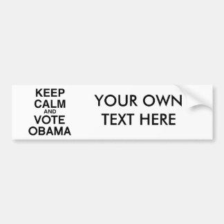 KEEP CALM AND VOTE OBAMA -.png Car Bumper Sticker