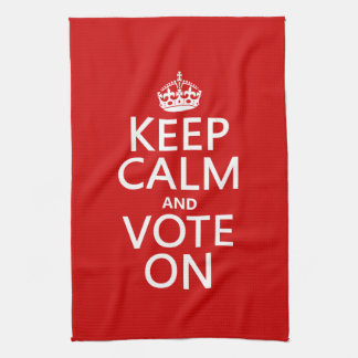 Keep Calm and Vote On Hand Towel