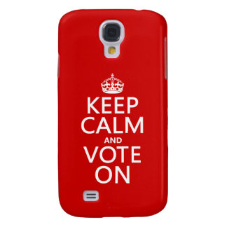 Keep Calm and Vote On Samsung Galaxy S4 Case