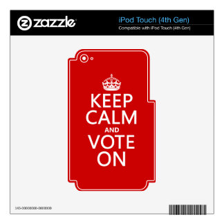 Keep Calm and Vote On Skin For iPod Touch 4G