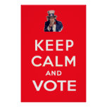 Keep Calm and Vote Print