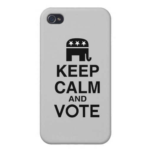 KEEP CALM AND VOTE REPUBLICAN iPhone 4 CASES