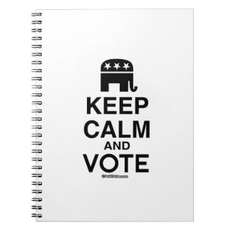 KEEP CALM AND VOTE REPUBLICAN NOTEBOOK