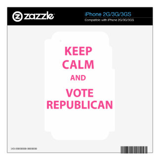 Keep Calm and Vote Republican iPhone 3G Skin