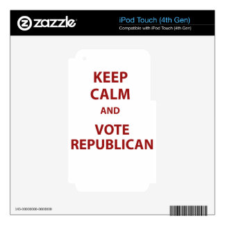 Keep Calm and Vote Republican iPod Touch 4G Skin