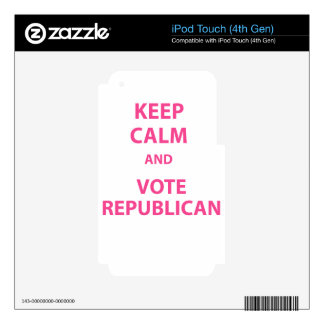 Keep Calm and Vote Republican iPod Touch 4G Skins