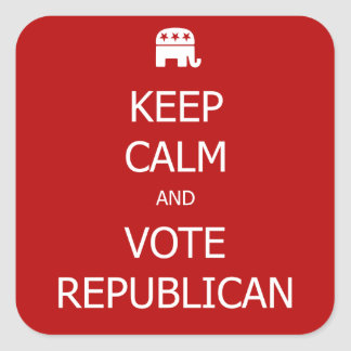 Keep Calm and Vote Republican Stickers