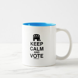 KEEP CALM AND VOTE REPUBLICAN Two-Tone COFFEE MUG