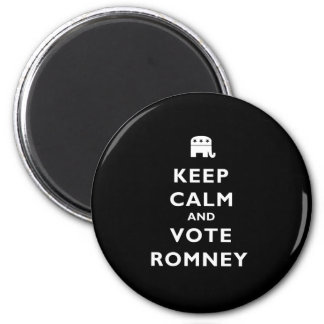 Keep Calm And Vote Romney 2 Inch Round Magnet