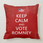 Keep Calm and Vote Romney Pillow