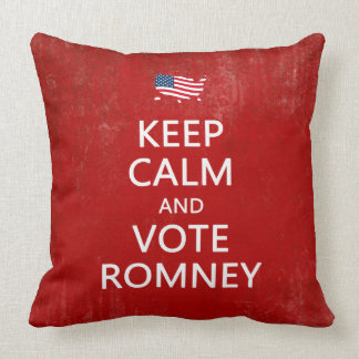 Keep Calm and Vote Romney Throw Pillows