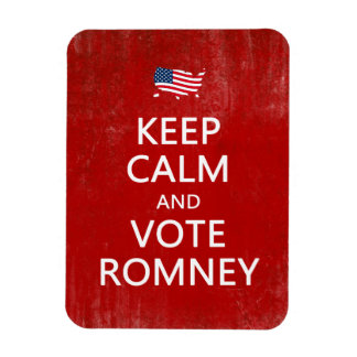 Keep Calm and Vote Romney Rectangular Photo Magnet