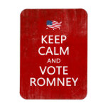 Keep Calm and Vote Romney Vinyl Magnet