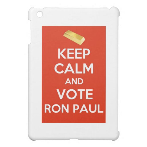 Keep Calm And Vote Ron Paul - Gold Standard iPad Mini Cases