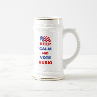 Keep Calm and Vote Rubio Beer Stein