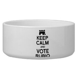 KEEP CALM AND VOTE RUBIO -.png Pet Food Bowls