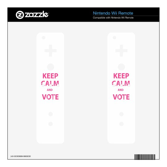 Keep Calm and Vote! Skins For The Wii Remote